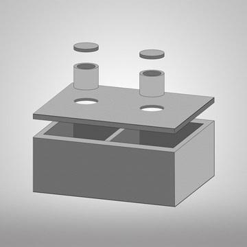 3D model dvoukomorová betonová jímka