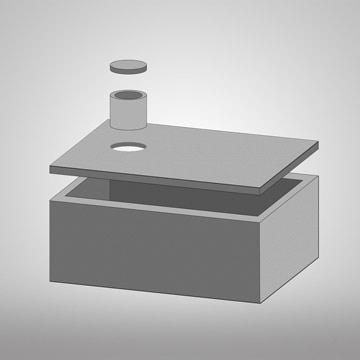model jednokomorového septiku